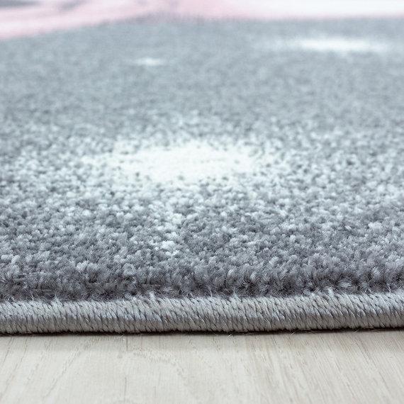 Adana Carpets Rond Kindervloerkleed - Bambi Beer Roze
