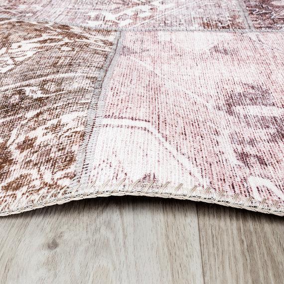 FRAAI Patchwork vloerkleed - Lago Rood Roze