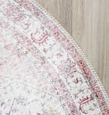 FRAAI Rond Vintage vloerkleed - Lago Roze