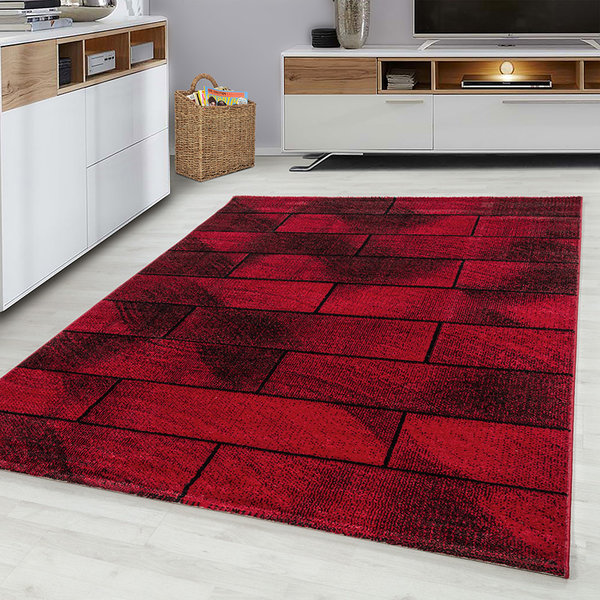 Modern Vloerkleed - Brick Rood 1110