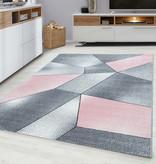 Adana Carpets Modern Vloerkleed - Brick Roze 1120