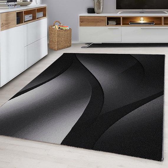 Adana Carpets Modern vloerkleed - Plus Zwart 8010