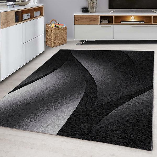 Modern vloerkleed - Plus Zwart 8010
