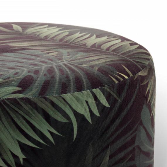 Lifa Living Velvet poef – Beau Deluxe Palmblad