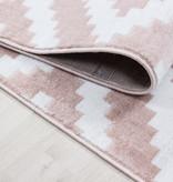 Adana Carpets Moderne loper - Plus Roze 8005