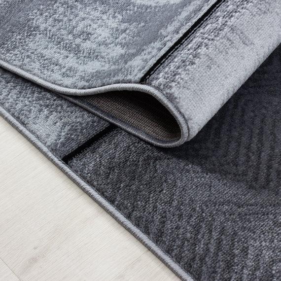 Adana Carpets Moderne loper - Plus Zwart 8007