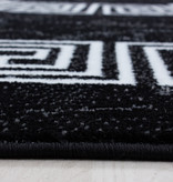 Adana Carpets Moderne loper - Plus Zwart 8009