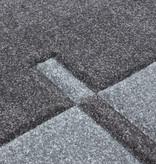 Adana Carpets Moderne Loper - Tetris Grijs 1310