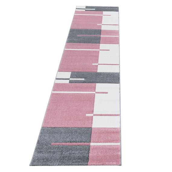 Adana Carpets Moderne Loper - Tetris Roze 1310