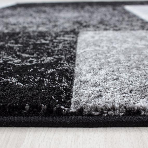 Adana Carpets Moderne Loper - Tetris Zwart 1330
