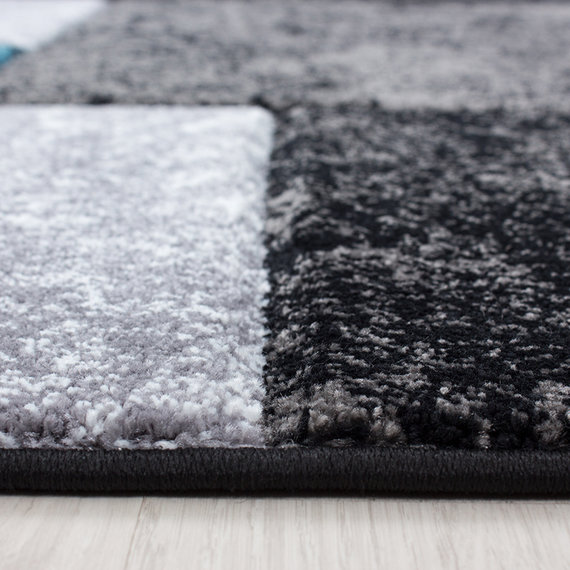 Adana Carpets Moderne Loper - Tetris Turquoise 1330