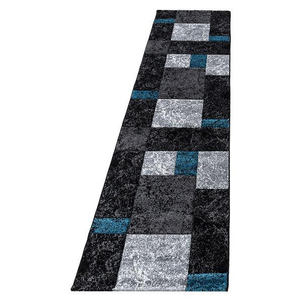 Moderne Loper - Tetris Turquoise 1330
