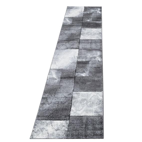 Adana Carpets Moderne loper  - Tetris Grijs 1710