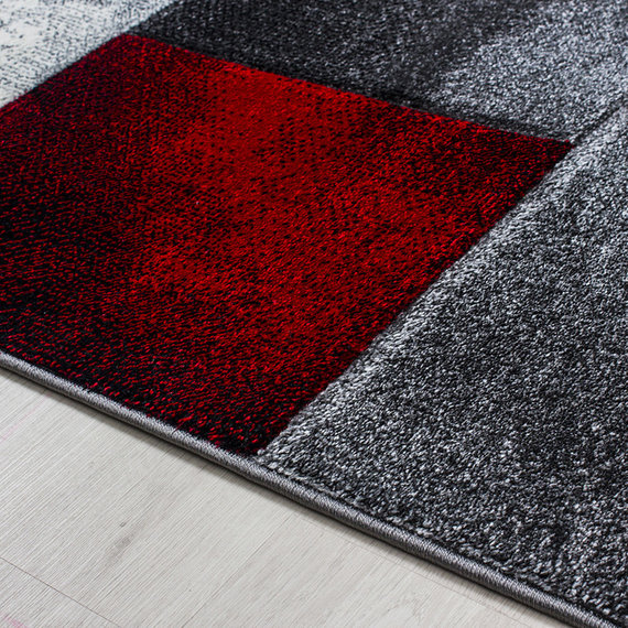 Adana Carpets Moderne loper  - Tetris Rood 1710