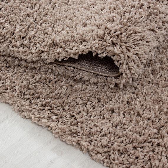 Adana Carpets Rond hoogpolig vloerkleed - Sade Beige