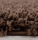 Adana Carpets Rond hoogpolig vloerkleed - Sade Bruin