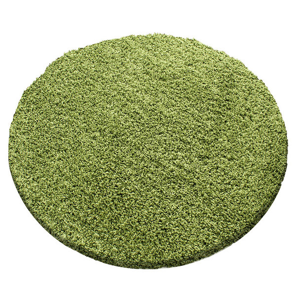 Rond hoogpolig vloerkleed - Sade Groen