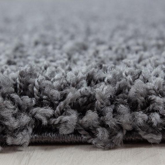 Adana Carpets Rond hoogpolig vloerkleed - Sade Grijs