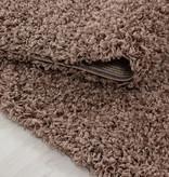 Adana Carpets Rond hoogpolig vloerkleed - Sade Mokka