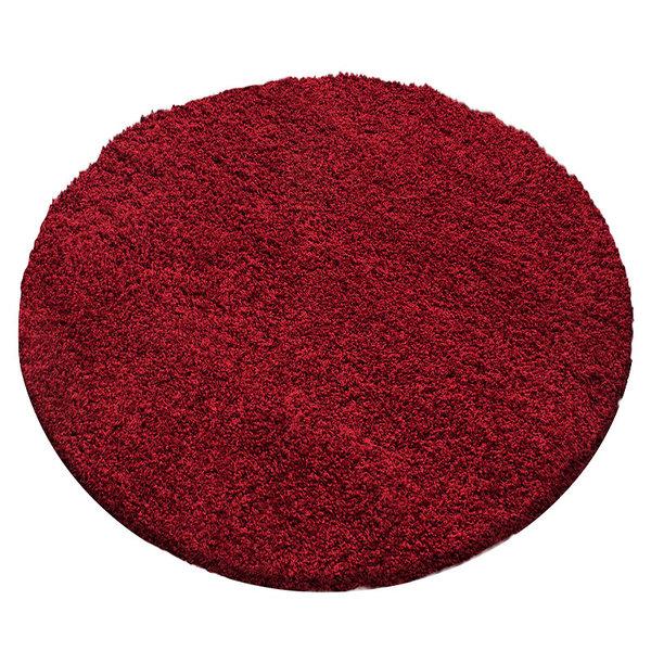 Rond hoogpolig vloerkleed - Sade Rood