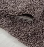 Adana Carpets Rond hoogpolig vloerkleed - Sade Taupe