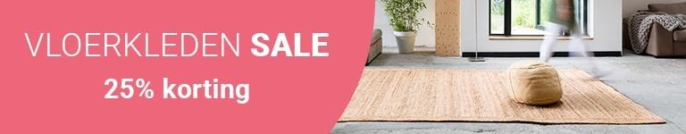Vloerkleden Sale- 25% korting op heel veel vloerkleden