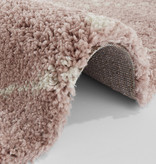 Mint Rugs Rond vloerkleed - Allure Hash Roze Creme