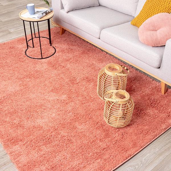 Hoogpolig vloerkleed - Lofty Perzik Roze