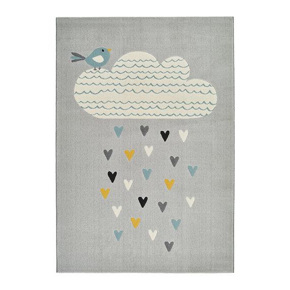 Zala living Kindervloerkleed - Ella Rainfall Wolk Grijs