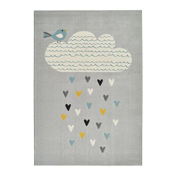 Kindervloerkleed - Ella Rainfall Wolk Grijs