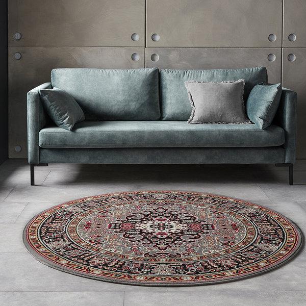 Rond Perzisch tapijt - Mirkan Skazar Grijs