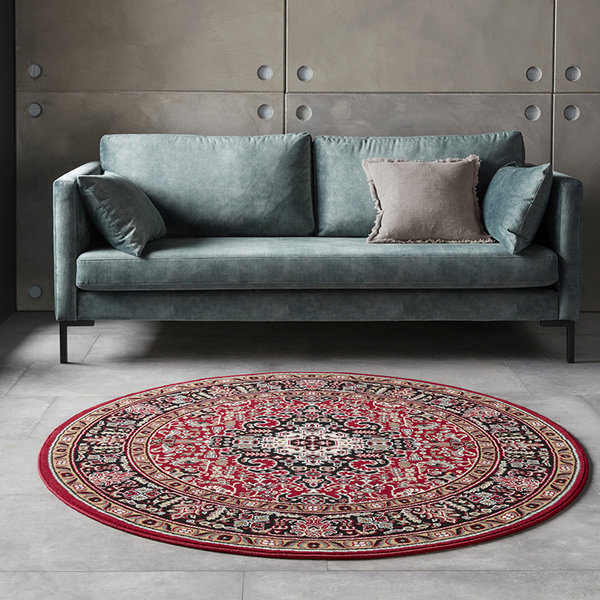 Rond Perzisch tapijt - Mirkan Skazar Rood