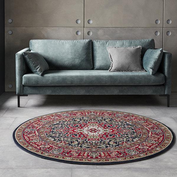 Rond Perzisch tapijt - Mirkan Skazar Rood Multicolor