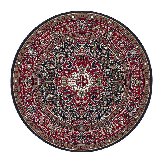 Nouristan Rond Perzisch tapijt - Mirkan Skazar Rood Multicolor