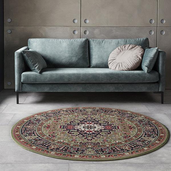 Rond Perzisch tapijt - Mirkan Skazar Groen