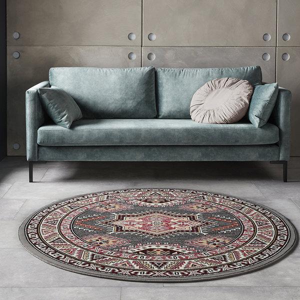 Rond Perzisch tapijt - Mirkan Saricha Grijs Multicolor