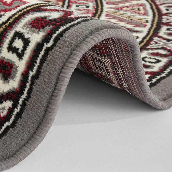Nouristan Rond Perzisch tapijt - Mirkan Saricha Grijs Multicolor