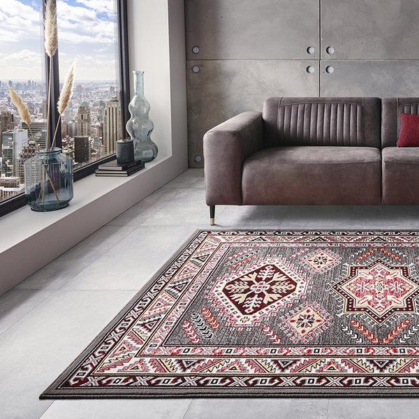 Perzisch tapijt - Mirkan Saricha Grijs Multicolor