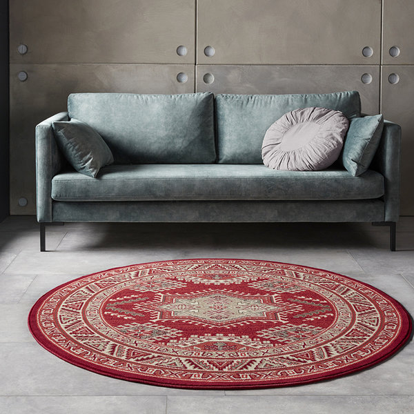 Rond Perzisch tapijt - Mirkan Saricha Rood