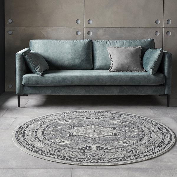 Rond Perzisch tapijt - Mirkan Saricha Lichtgrijs