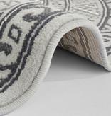 Nouristan Rond Perzisch tapijt - Mirkan Saricha Lichtgrijs