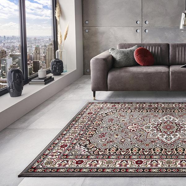 Perzisch tapijt - Mirkan Parun Grijs Multicolor