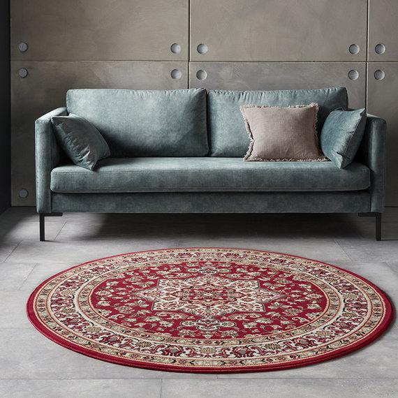 Nouristan Rond Perzisch tapijt - Mirkan Parun Rood
