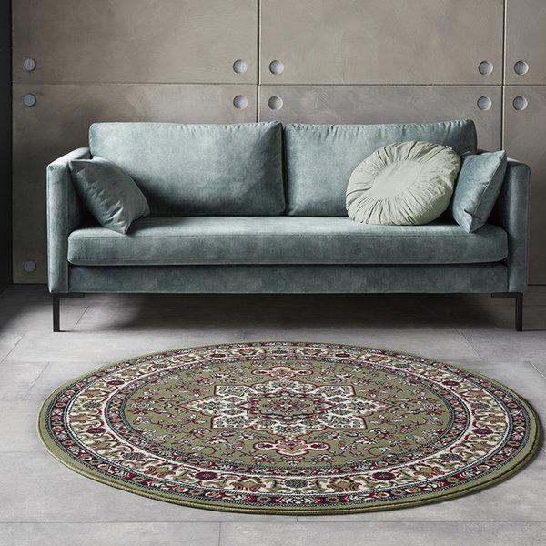 Rond Perzisch tapijt - Mirkan Parun Groen