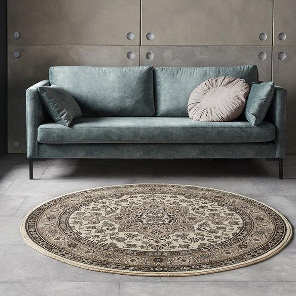 Rond Perzisch tapijt - Mirkan Parun Beige