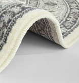 Nouristan Rond Perzisch tapijt - Mirkan Parun Grijs Creme