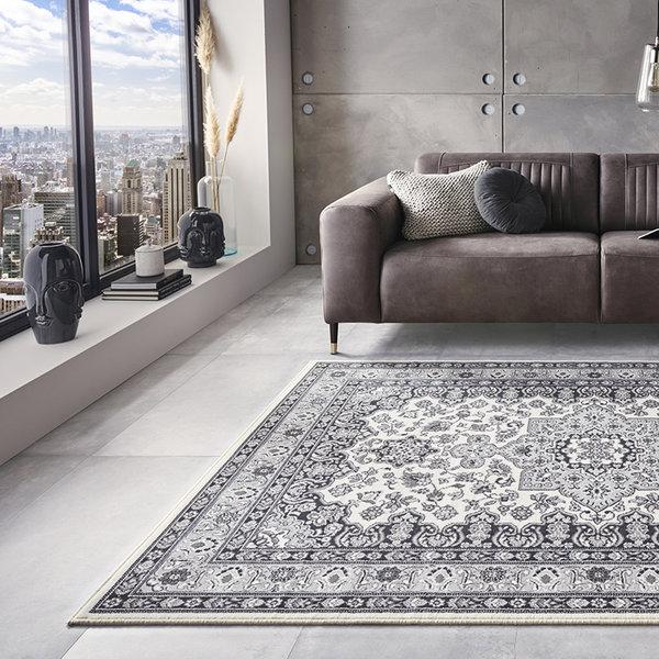 Perzisch tapijt - Mirkan Parun Grijs Creme