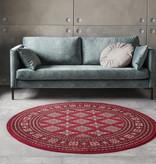 Nouristan Rond Perzisch tapijt - Mirkan Sao Rood