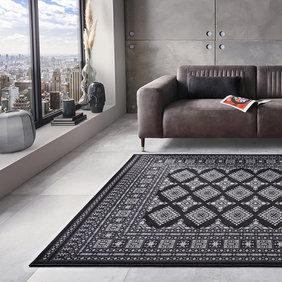 Nouristan Perzisch tapijt - Mirkan Sao Zwart
