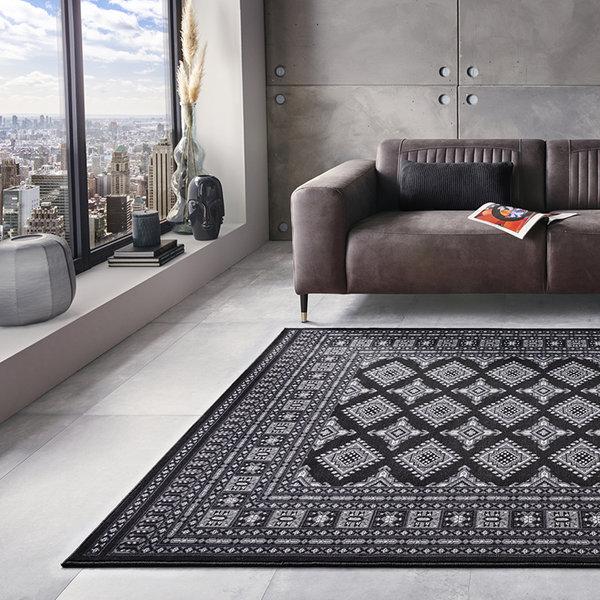 Perzisch tapijt - Mirkan Sao Zwart